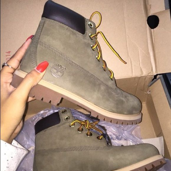 ISO olive green timberlands ISO!!!! not interested in any other color than this. THESE ARE ISO I DO NOT OWN THESE I AM NOT SELLING Timberland Shoes Combat & Moto Boots