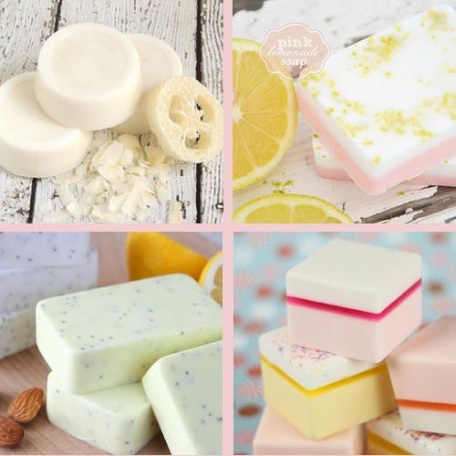 Easy Melt and Pour Soap Recipes to make as homemade Mother's Day gifts for mom!