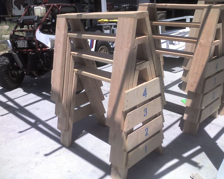 Picture of The ultimate, heavy duty, stackable, bullet proof, extreme saw horses!