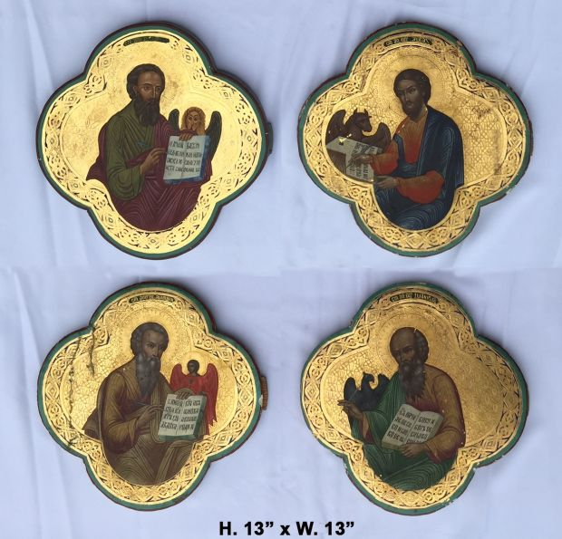 unusual-complete-set-19c-russian-hand-painted-and-raised-gilt-4-evangelists-icons