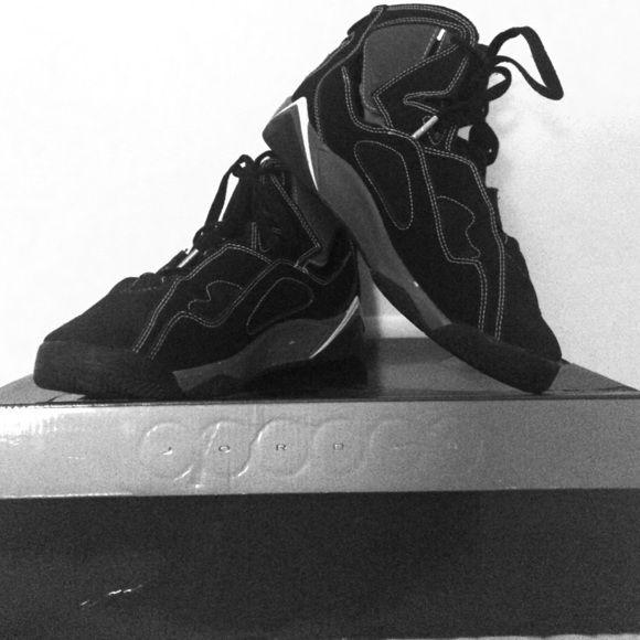 Jordan True Flight (GS) Black/Metallic Silver & White Jordan Shoes Sneakers