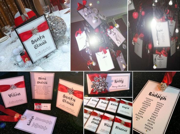 Christmas Wedding Table Names Loris Decoration