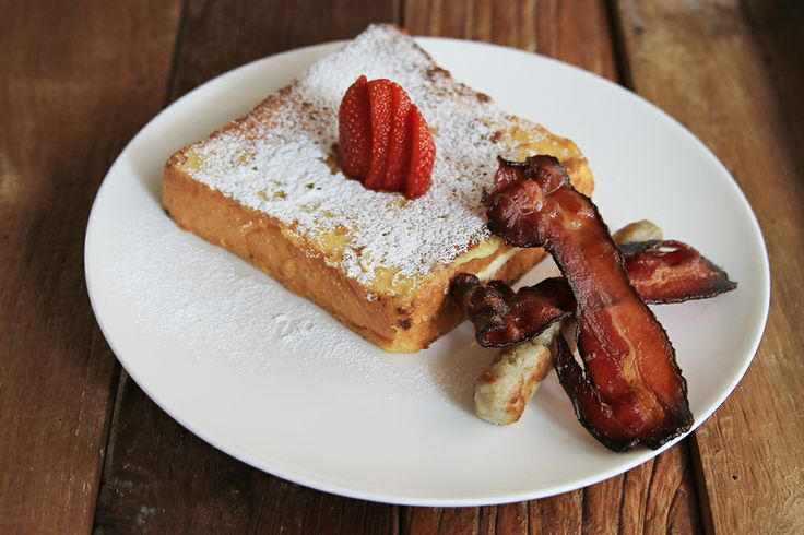 French Toast  with Sausage  Bacon
