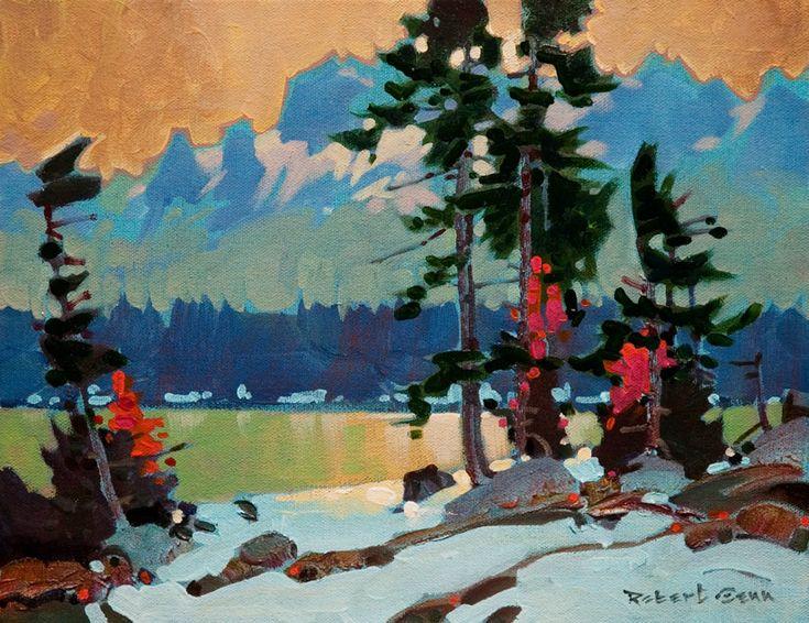 Jasper Lakes Contraluz, by Robert Genn 11x14