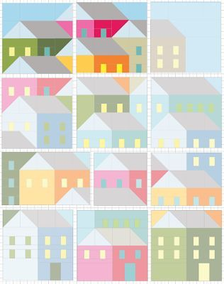 Hillside Houses Blocks 10 and 11 | Pretty Little Quilts | Bloglovin'