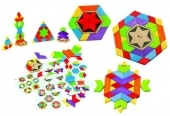 Kaleido-Fun - a multi coloured puzzles of blocks for kids to use their creativity skills.