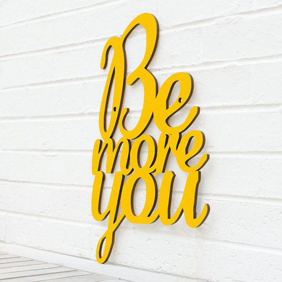 Be More You by spunkyfluff on Etsy, $57.50
