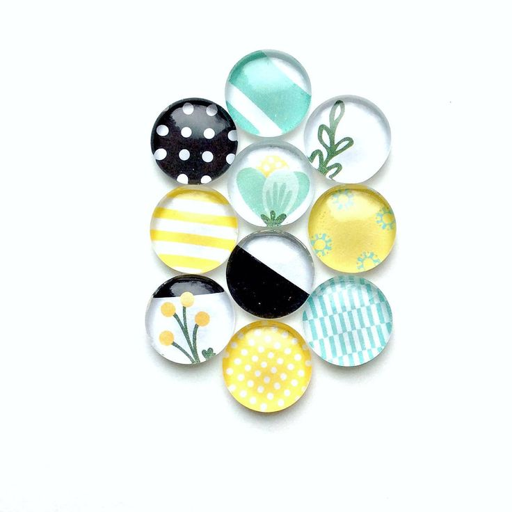 Glass push pins - decorative push pins - floral decor - yellow push pins -  teal push pins - cork board pins - by ThePrettyDecorStore on Etsy