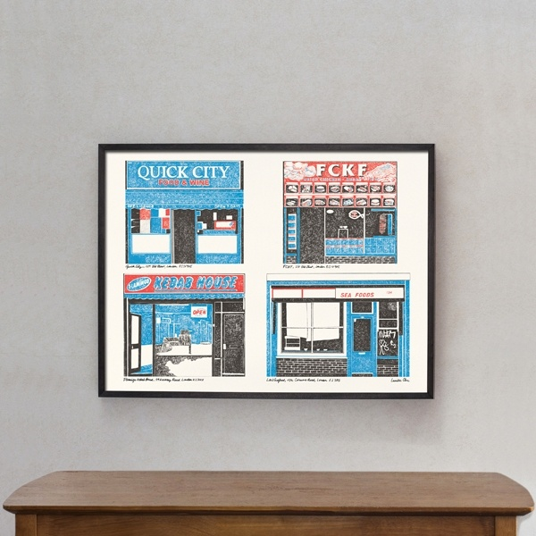 "Poster ""East London Shops"""