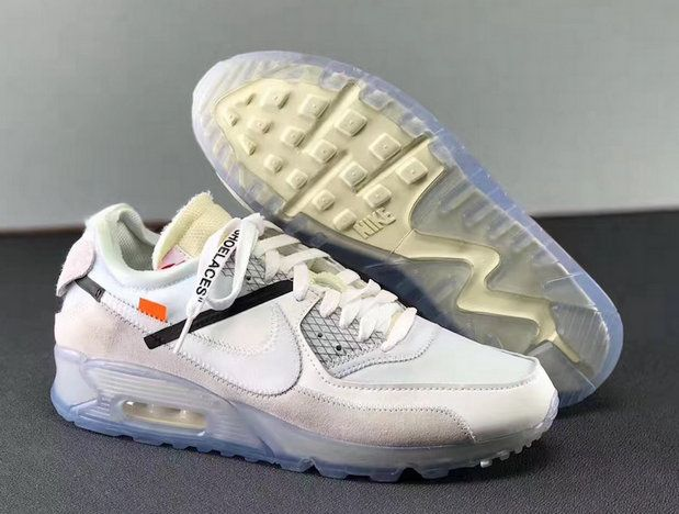 OFF WHITE X NIKE AIR MAX 90 ICE 10X, Men's Fashion, Footwear
