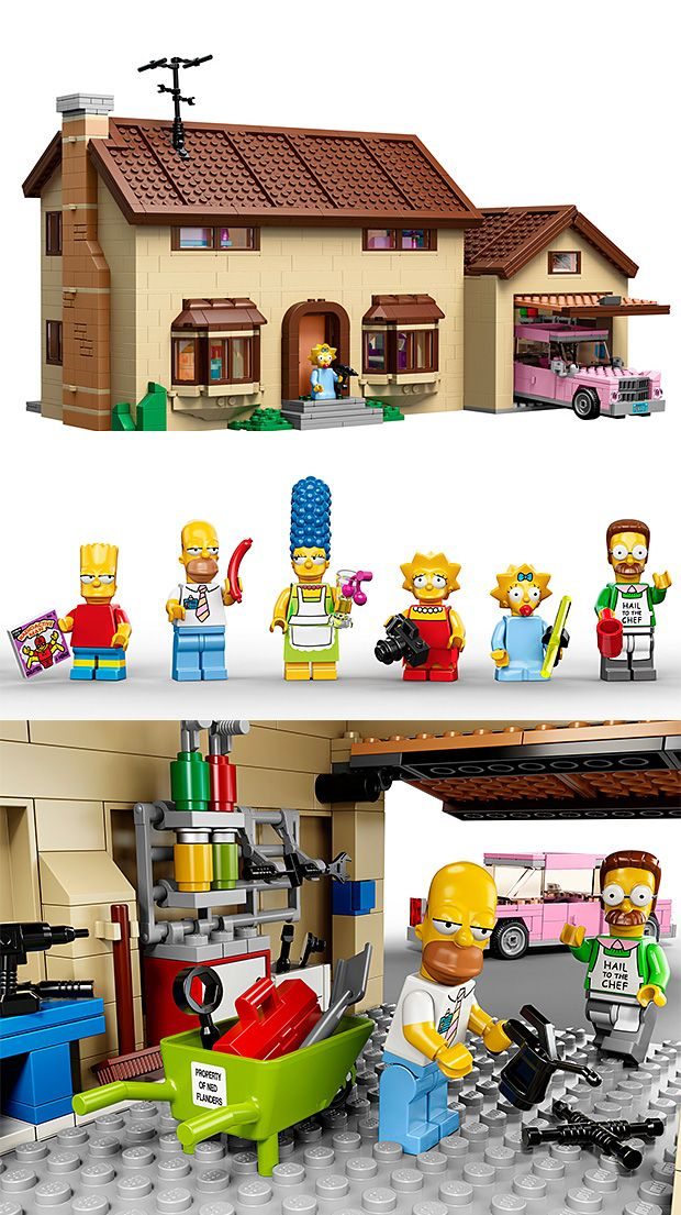 Lego Simpsons House at werd.com