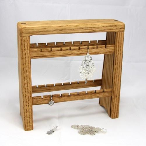 Oak Earring Stand - Organizer $30.00