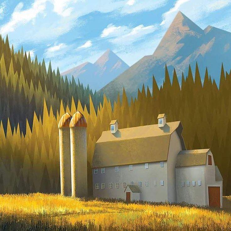 Morehouse Barn, just outside Park City, UT   Illustrator: Tyler Carter