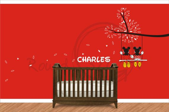 mickey mouse wall decor - Buscar con Google