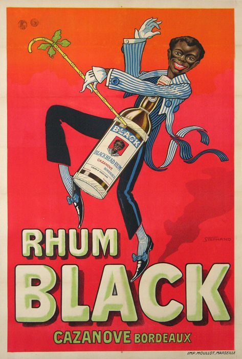 rhum black cazanove bordeaux 1925 affiches anciennes de stephano glou glou pinterest. Black Bedroom Furniture Sets. Home Design Ideas