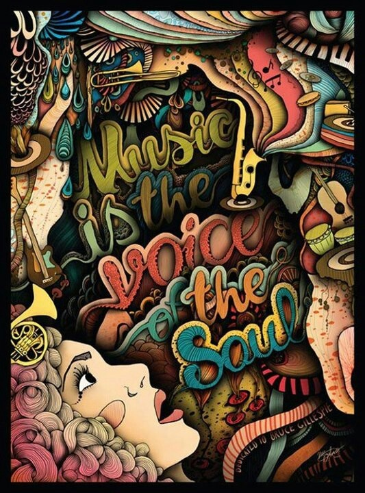 ☮ American Hippie Psychedelic Art Quotes ~ Music