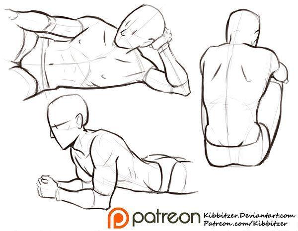 Male poses reference sheet 2 by Kibbitzer.deviantart.com on @DeviantArt