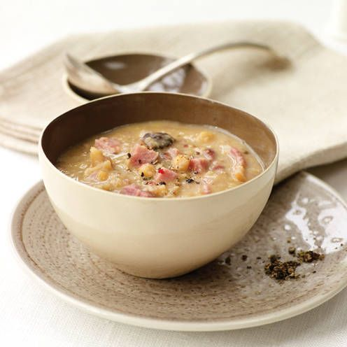 Slow cooker split pea and ham soup | Recipe