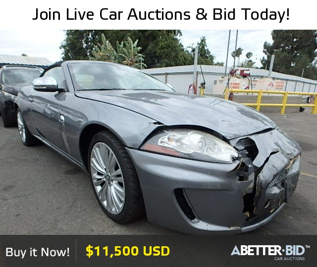 2010 Jaguar Coupe: Salvage 2010 JAGUAR XK For Sale