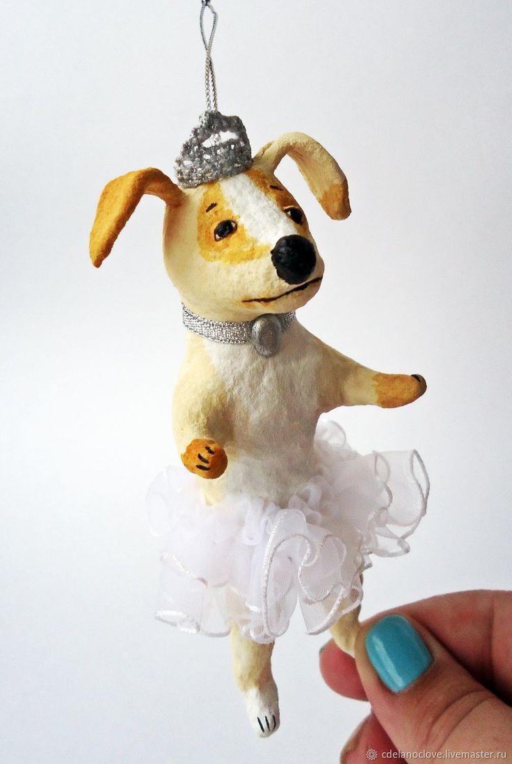 Купить Собачка в пачке - ватная игрушка в интернет магазине на Ярмарке Мастеров