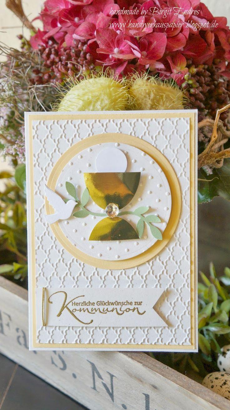 HandWerk aus Papier: Die allerletzte Kommunionkarte