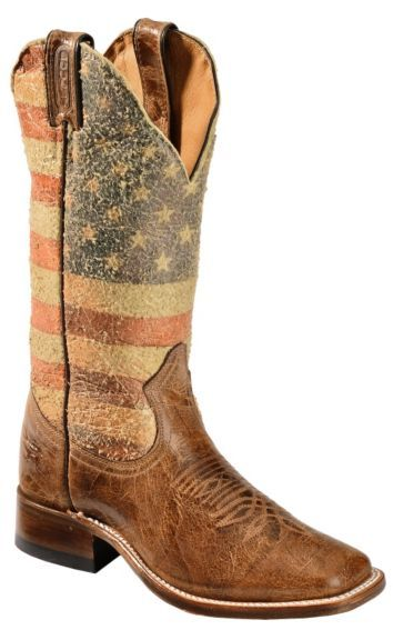 Boulet Bandiera USA Cowgirl Boots - Square Toe - Sheplers