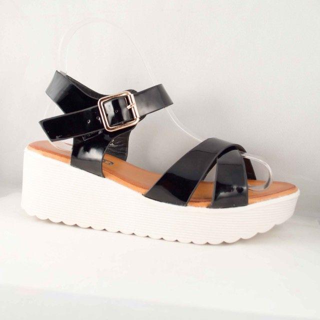Poze Sandale Negre Olga 6 cm