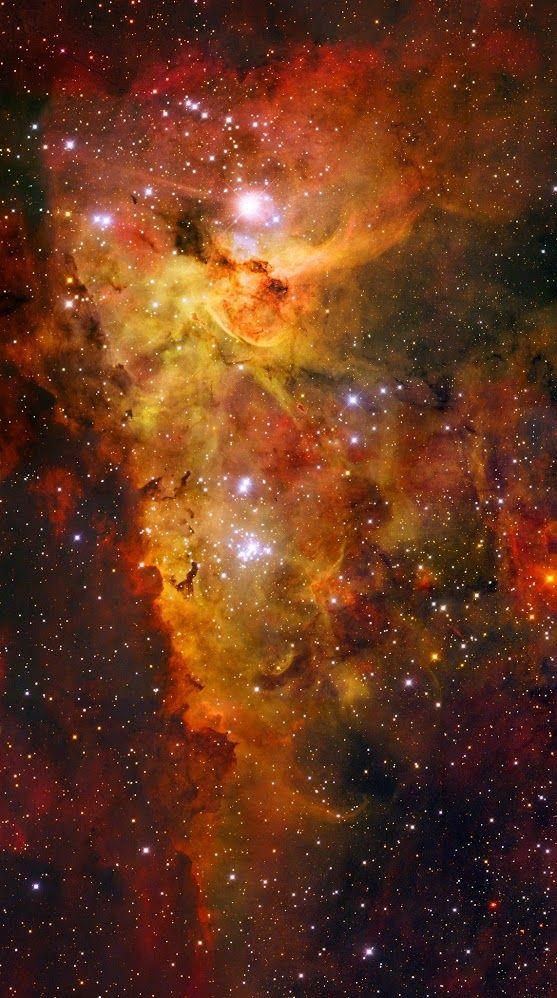 The Carina Nebula                                                                                                                                                                                                                                   Name:Carina Nebula Type:• Milky Way : Star : Grouping : Cluster • Milky Way : Nebula • X - Nebulae Distance:7500 light years Constellation:Carina Credit: ESO