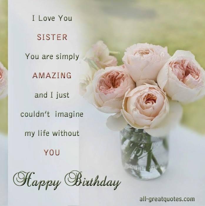 I Love You Sister, Happy Birthday