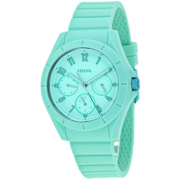 Women's Fossil Women's Poptastic (92 CAD) ❤ liked on Polyvore featuring jewelry, watches, blue, jewelry & watches, women's watches, quartz movement watches, fossil wrist watch, blue watches, blue jewelry and fossil jewelry