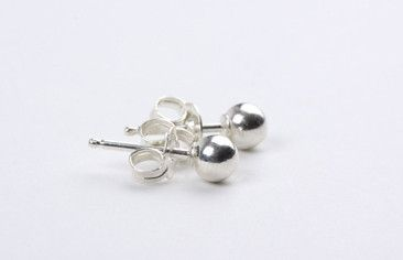 4mm Bead Earring Silver – Jewel Online