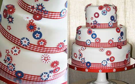 Birthday cake: Cakes Ideas, Fourth Of July, July Cakes, Patriots Cakes, Cakes Decor, 4Th Of July, Wedding Cakes, Red White, Birthday Cakes