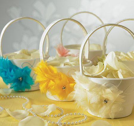 I Do...Color Flower Girl Basket