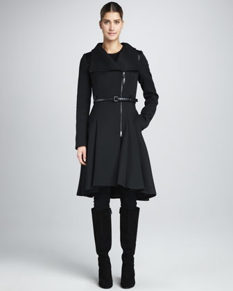 Mackage Ginette Skirted Wool Coat. A mere $730. But ever so lovely.Mackage Ginette, Coats 730, Fall Style, Coats Fetish, 2012 Fashion, Fall Fashion, Ginette Skirts, Skirts Wool, Wool Coats