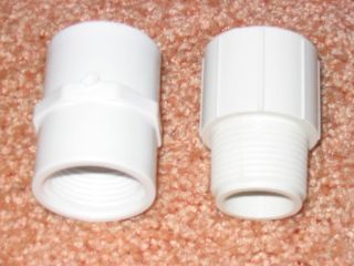 PVC PIPE FITTINGS Threaded Male and Female Connectors