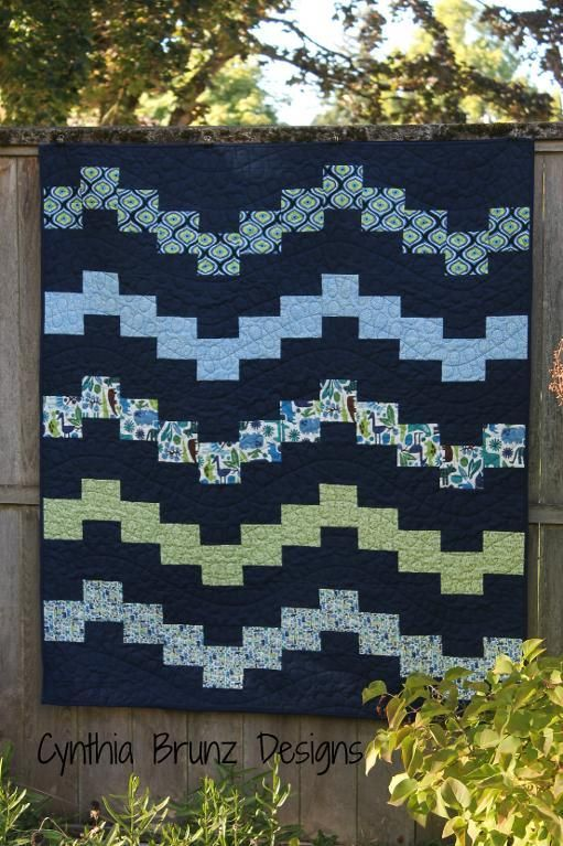 Wiggle Time Quilt pattern.  A fast and easy quilt.  Pattern available for download from Craftsy.