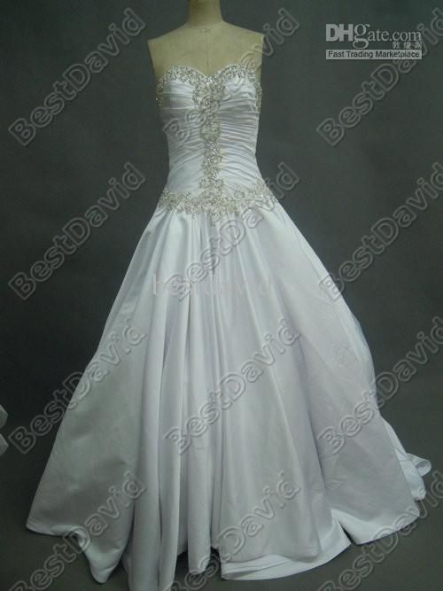 Gorgeous Beaded Pnina Tornai Ball Gown Bling Wedding Dresses 4019 Satin Sweetheart Jeweled Corset