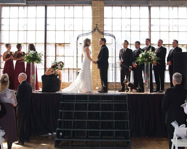 Wedding Ceremony Reception Hire: Hot Water Warehouse Wedding Ceremony