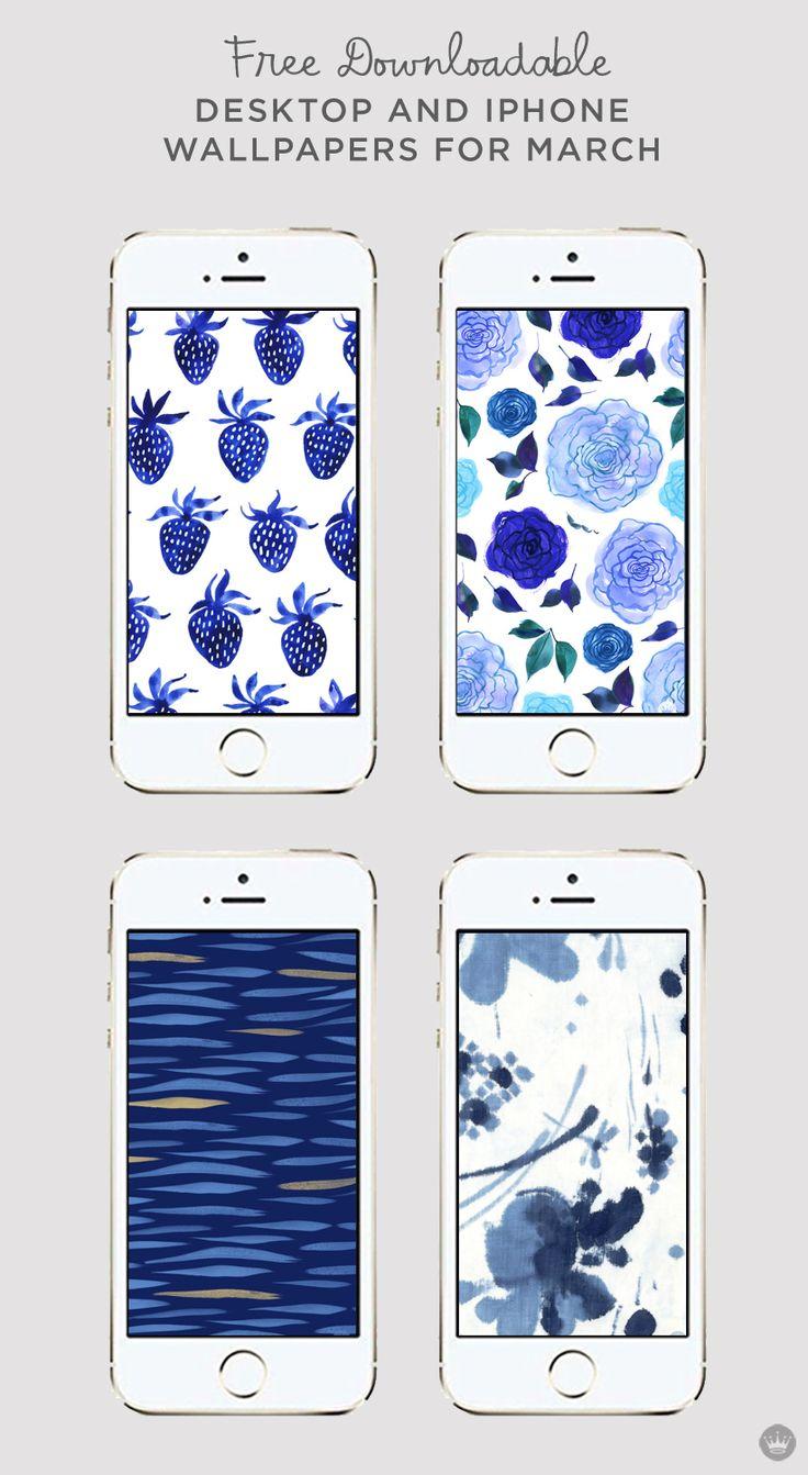 Really feeling blue? Check out these digital iPhone wallpapers from Think.Make.Share to get you through the blues!