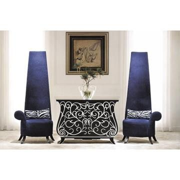 Hotel Furniture, Lobby Furniture, Fabric Chair, Console Table