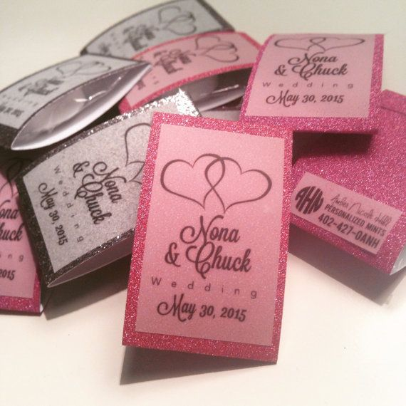Wedding Favor Custom Personalized Candy Set Of By Brightmint Mints Pinterest Favors And