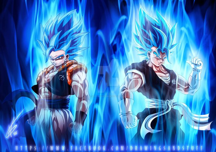 SuperSaiyan Blue Gogeta and Vegito by kapitanyostenk.deviantart.com on @DeviantArt