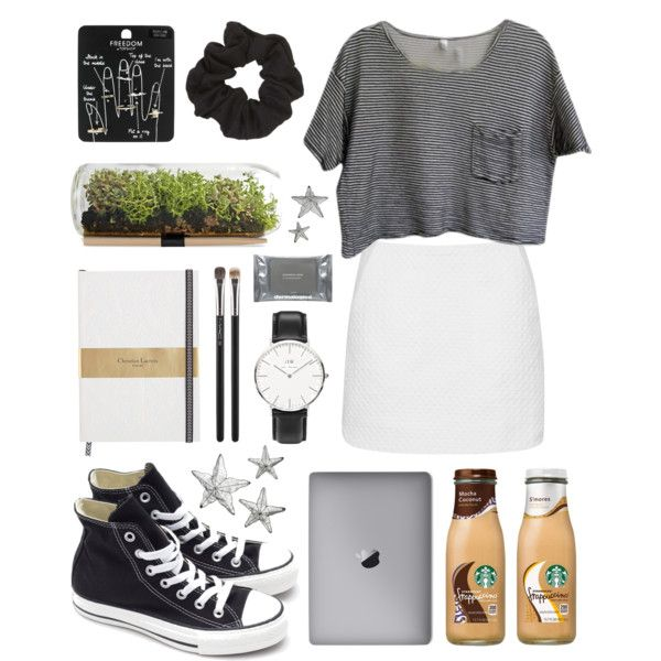 Untitled #20 by kjllic on Polyvore featuring polyvore fashion style American Apparel Topshop Converse Daniel Wellington MAC Cosmetics Dermalogica