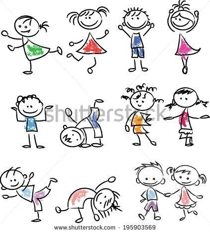Cute happy cartoon doodle kids – #cartoon #cute #d…