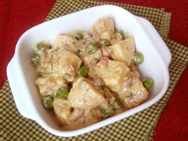 Salada alemã de batatas com maionese de iogurte (Kartoffelsalat mit JoghurtMayonnaise)
