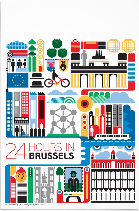 24 Hours in Brussels - Fernando Volken Togni for Qatar Airlines inflight magazine