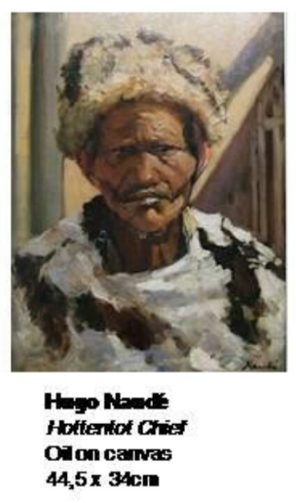 Hugo Naude - Hottentot Chief. What a beautiful painting!!! So glad they found it…