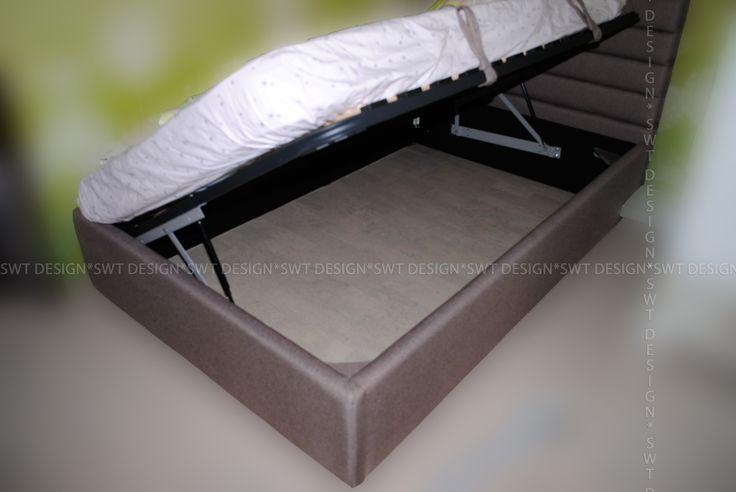 Детская кровать. Мягкое изголовье полосками. С подъемным механизмом. Больше моих работ можете посмотреть тут https://vk.com/swt_design