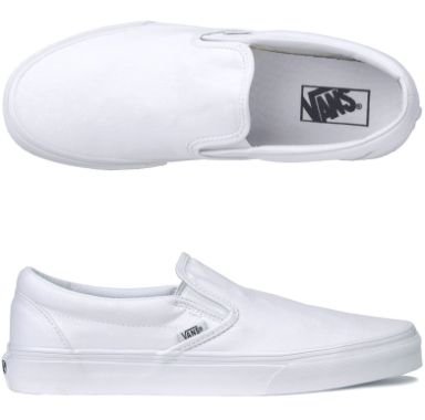all white slip on vans