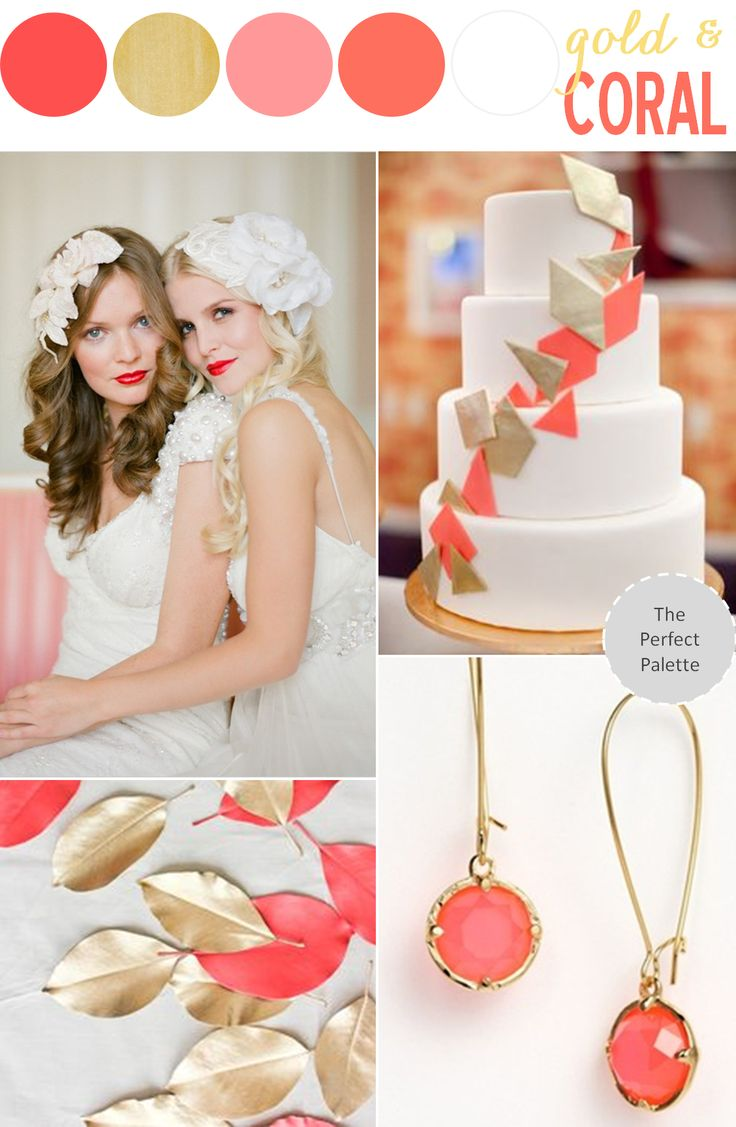 Color Story   Coral + Gold http://www.theperfectpalette.com/2013/09/color-story-coral-gold.html